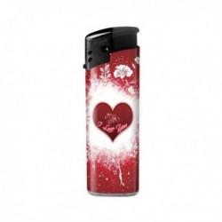 Wegwerpaansteker rood met hart