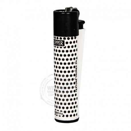 Clipper aansteker wit dots