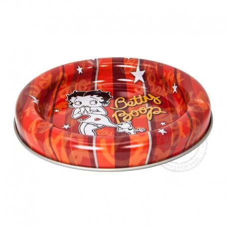 Asbak Betty Boop metaal rood