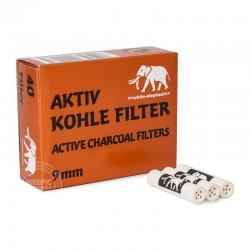 Pijpfilters 9mm white elephant 40 stuks