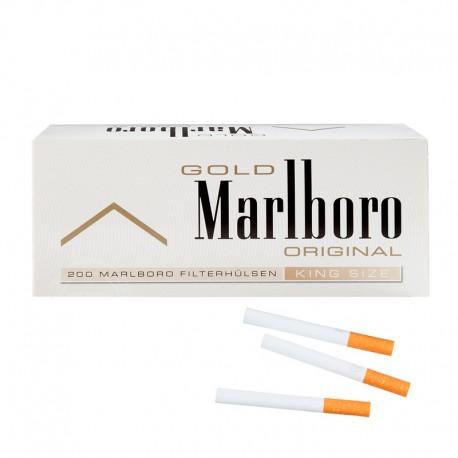 Marlboro sigaretenhulzen Gold 200 stuks