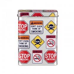 Sigarettenblikje warning