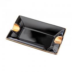 Sigaren asbak keramiek zwart goud