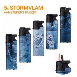 5x Stormaanstekers pakket Spijkerbroek
