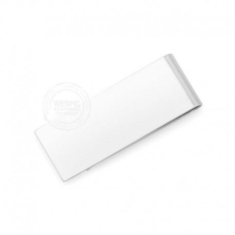 Geldclip high polished zilver