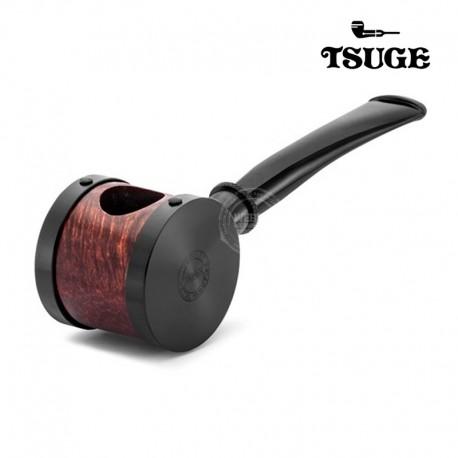 Tsuge blowfish tabakspijp chroom hout