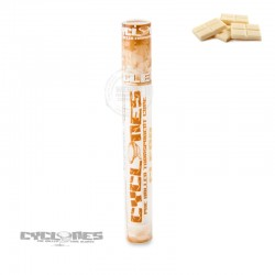 Cyclones clear white chocolate cone
