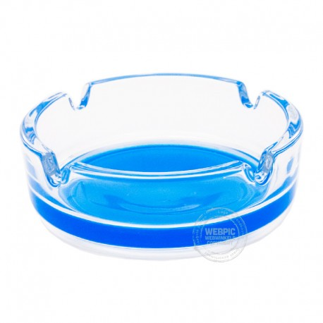 Glazen asbak Blauw