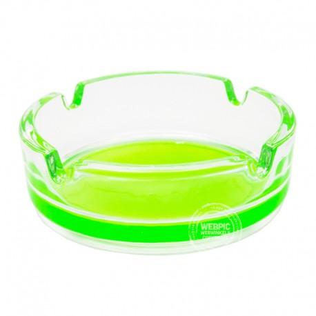 Glazen asbak Groen