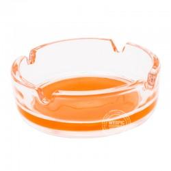 Glazen asbak Oranje