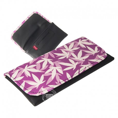 Tobacco Pouch Leafs paars