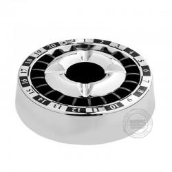 Roulette asbak zwart