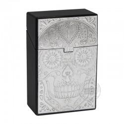 Clickboxje Skull zilver