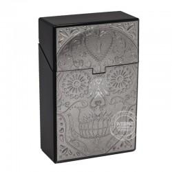 Clickboxje Skull chroom