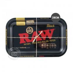 Rolling tray RAW zwart 28cm