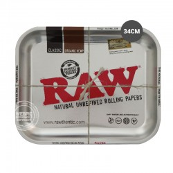 Rolling tray RAW zilver 34cm