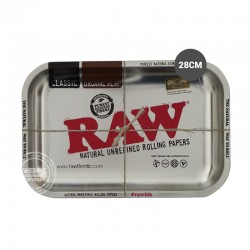 Rolling tray RAW zilver 28cm