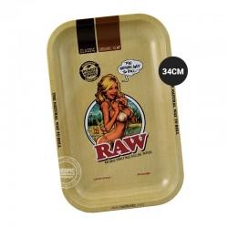 Rolling tray RAW girl 34cm