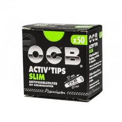 OCB Activ slim tips 50st