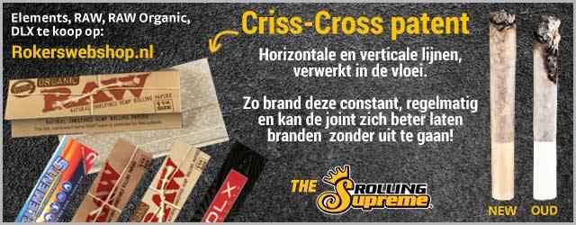 raw vloei criss cross