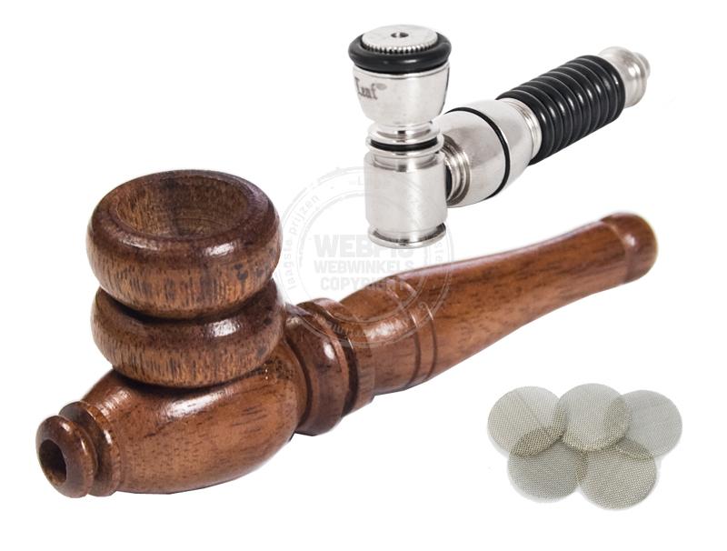 wietpijp van metaal of hout
