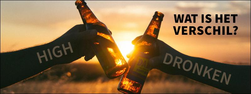 High of dronken, wat is het verschil?
